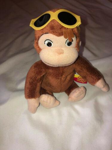 "Marvel Toys Curious George Plush Monkey Sunglasses Beach  6"""
