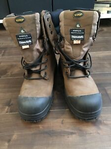 Waterproof and breathable steel-toed boots