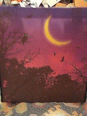 Publix Halloween reusable shopping bag, Dark purple/pink, owl/bats, NWT](Halloween Shopping)