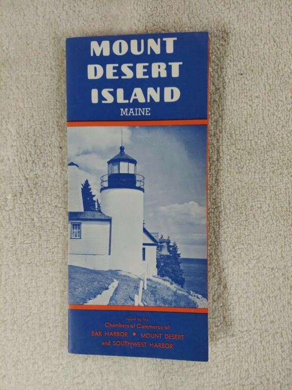 ACADIA 1950 NATIONAL PARK maine MAP BROCHURE mount Desert Island HISTORY RETRO