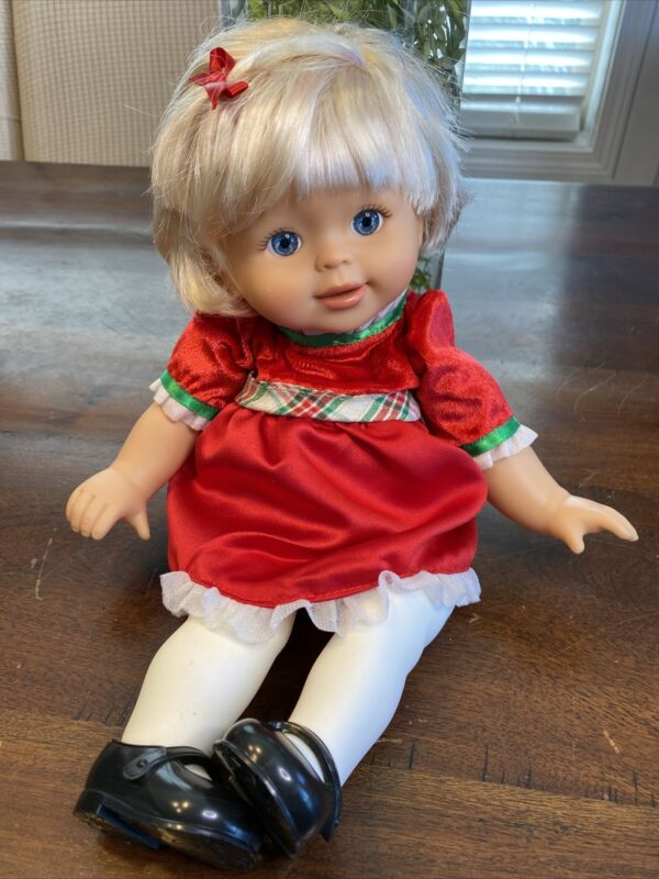 """Fisher Price Litte Mommy Doll Ready For Christmas 14"""" Baby Doll 2007 W Outfit"""