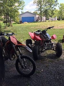 2004 trx450 and 2006 ktm85sx trade for muscle car