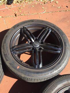 Alloys wheel and tyres