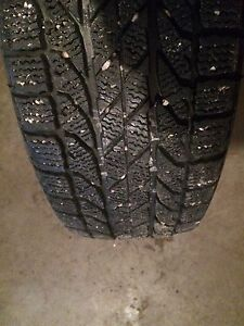 4 winter tires including steel rims