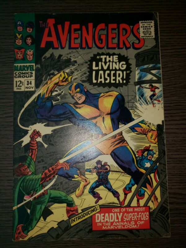 AVENGERS #34 - FIRST APPEARANCE OF THE LIVING LASER - 1966