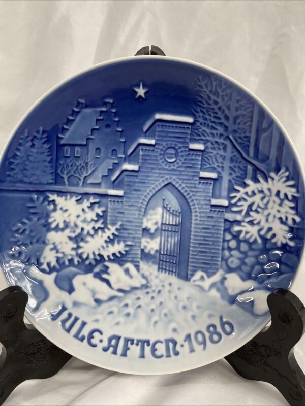 "BING AND GRANDAHL  (B & G) 1986 CHRISTMAS PLATE ""SILENT NIGHT"""