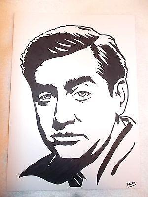 A4 Black Ink Marker Pen Sketch Actor Comedian Tony Hancock