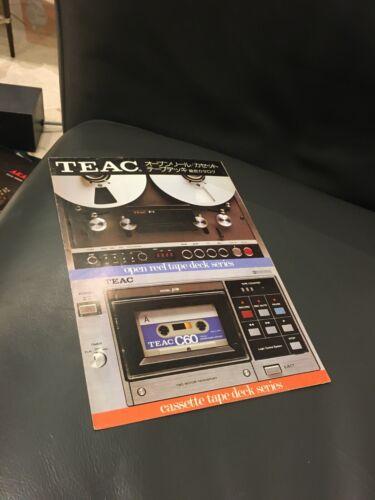 Teac reel to reel full line Audio Brochure 1977