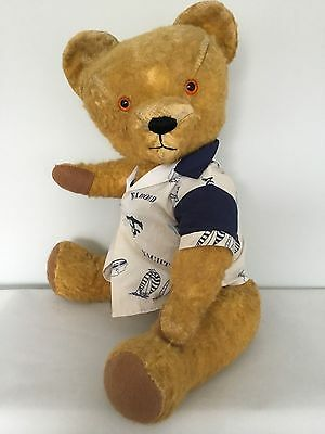 ANTIQUE/VINTAGE RARE 1940/50's CHAD VALLEY GOLDEN MOHAIR TEDDY BEAR 64cms