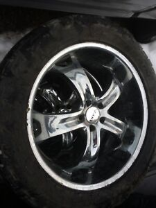 """Two sets of 22"""" Wheels with rubber for JEEP TJ YJ 5x4.5"""