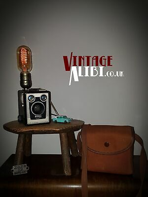 Vintage Lamp, KODAK Brownie Box Camera, Up-cycled, Edison Bulb With Dimmer