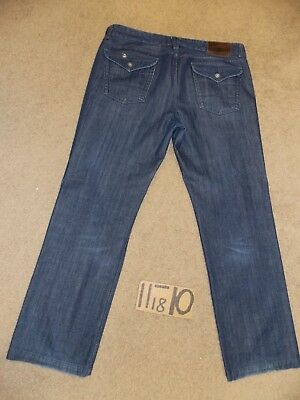 - LUCKY BRAND TROUSER DENIM BLUE ZIP JEANS 38X33 MEASURE NOW-42X33.5  #LKY391