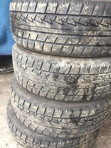 Four tires like new tread 195/65r14 $150 text 902 223 2108