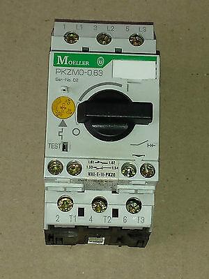 Moeller PKZMO-0,63  Motorschutzschalter +Hilfsschalter NHI-E-11-PKZO