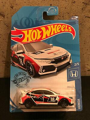 2020 Hot Wheels K Case White Honda Civic Type R #81