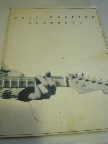 ERIC CLAPTON SLOWHAND Music Song Book 1978 50 pg