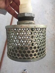 Water pump suction strainer