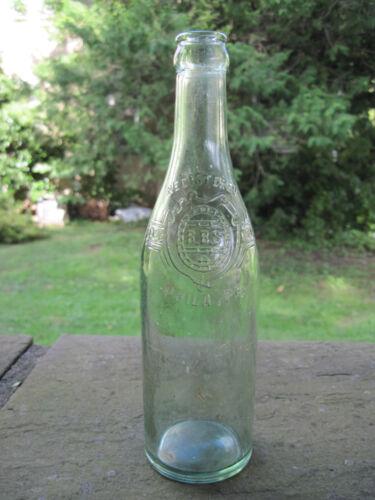 Vintage Aqua/Green Embossed Beer Bottle B.B.S. Brewing Company Phila PA