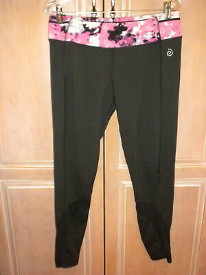Be Inspired Brand Black Athletic Yoga Workout  Pants   Ladies Size Large