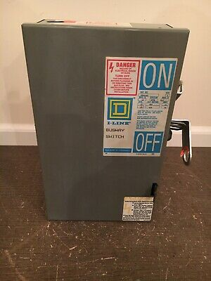 60 AMP 240 VOLT 3P4W FUSIBLE BUSWAY SWITCH BUS PLUG SER. 1-3 SQUARE D PQ4206