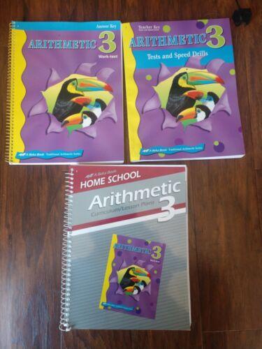 ABeka Grade 3 Arithmetic Curriculum Plan Teacher Keys to Student Book Test/ Quiz