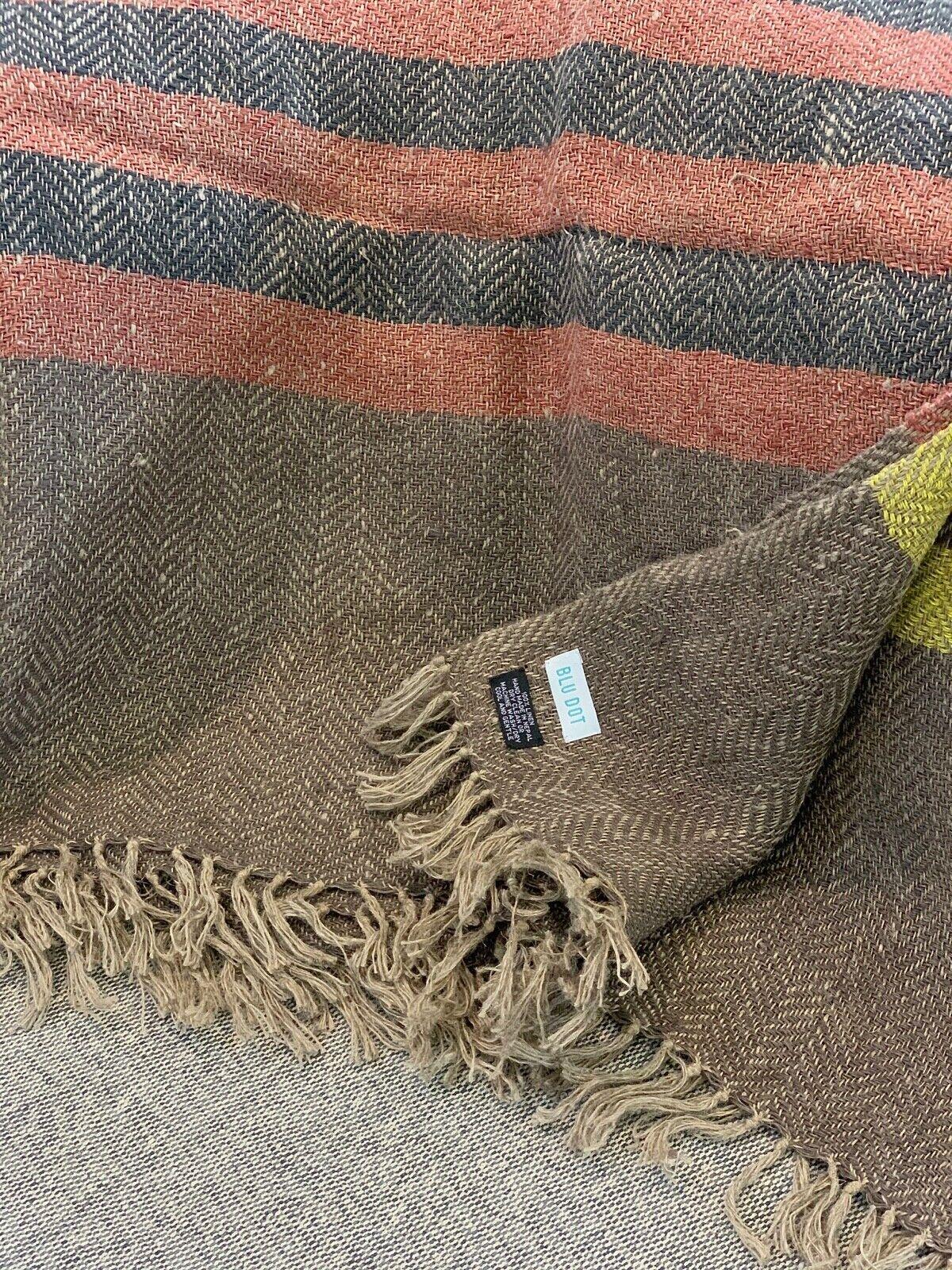 Blu Dot Linen Throw Blanket - Color Mix 2