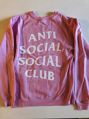 Brand New Anti Social Social Club ASSC Know You Better Hoodie Pink Small IN (Best Mens Hoodie Brands)
