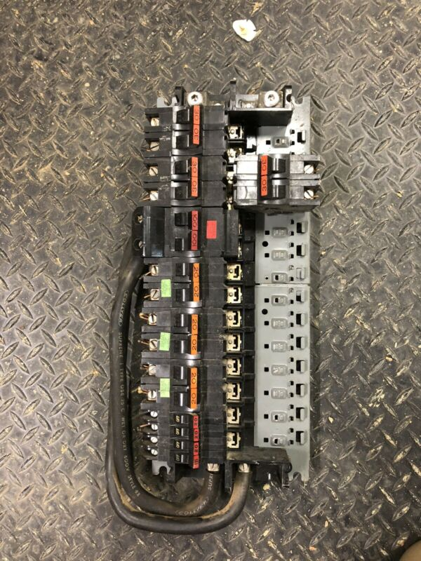 Federal Pacific FPE Stab Lok Circuit Breakers and Panel Interior