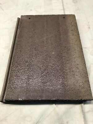 Roofing Cement Flat Tile. Brownish To Goldish Smooth Face Style Smooth Bottom