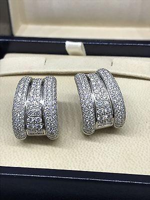 CHOPARD LA STRADA WHITE GOLD PAVE DIAMOND EARRINGS 84/4398-41 NEW!!!