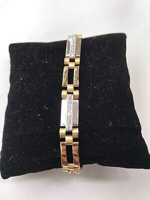 14K gold & onyx  mens fancy link bracelet 8.5 inches 20.6 grams! Elegant
