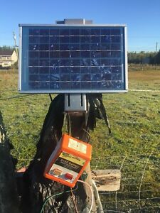 Solar and battery Gallagher energizer