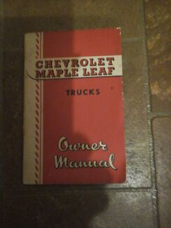 Chevrolet maple leaf trucks owners manual North Richmond Hawkesbury Area Preview