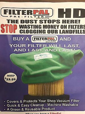 (100 pack) Wholesale FilterPal HD Green air filter cover shop vac Pre-Filter