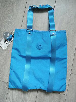 KIPLING LOVILIA GRAPHIC TOTE CONVERTIBLE BAG IN METHYL BLUE. BNWT