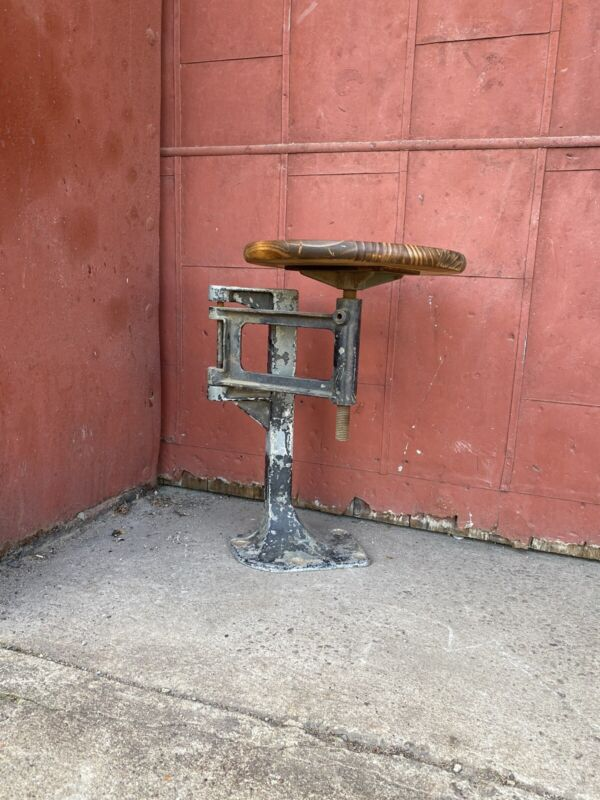 Antique Swing Arm Stool industrial drafting Swing-Way Seat Co Adjustable Office