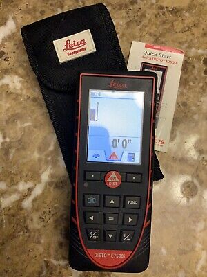 Leica Disto E7500i Preowned Laser Distance Meter W Bluetooth 4.0 792320 Case