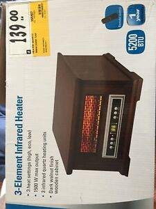 Space Heater w/ Remote Control and Timer - Used Once