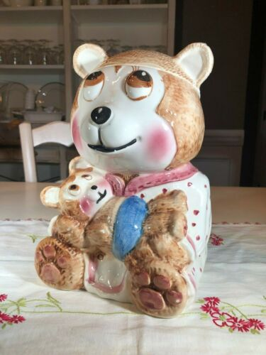 Weiss Bear in PJs Cookie Jar, Made in Brazil