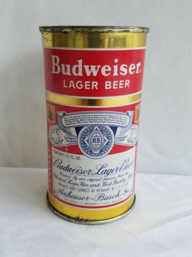 Rare Collectors Budweiser Beer Split Label Flat Top Can Anheuser Busch 12 FL OZ