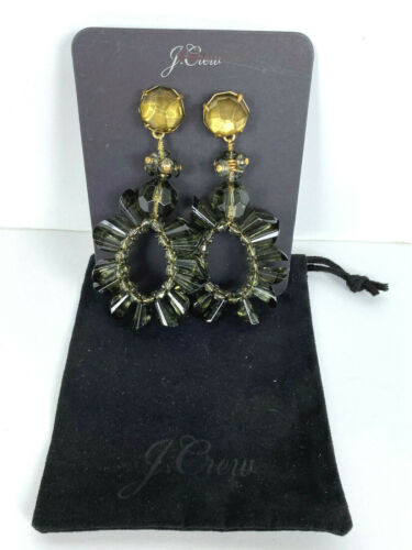 NWT Authentic J Crew Wreath earrings HTHR Graphite Item H0797