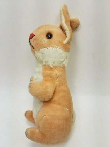 Vintage Rabbit Bunny Mohair?  Plush Stuffed Toy Japan 8 inches 1950