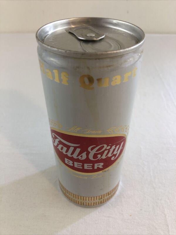 Falls City Beer 16 oz Half Quart Bottom Opened Pull tab Can