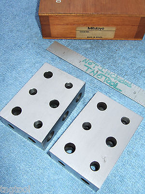 Mitutoyo 1-2-3 Blocks Wcase Toolmaker Machinist Grind Mill Inspection Quality