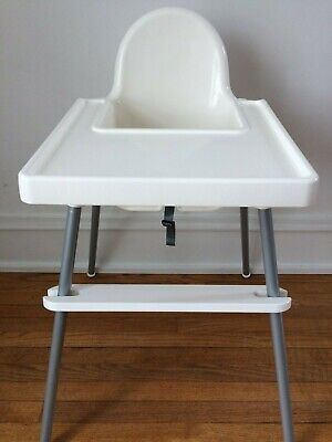 IKEA High Chair Footrest - Adjustable White Footrest for Ikea Antilop High Chair