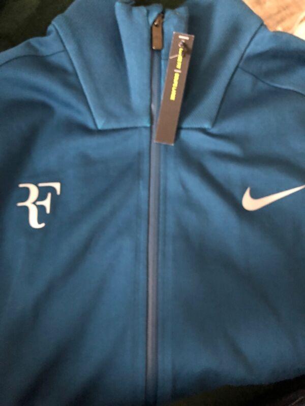 Roger Federer RF Nike Court Tennis Jacket Sz Large Blue Force 887539-474