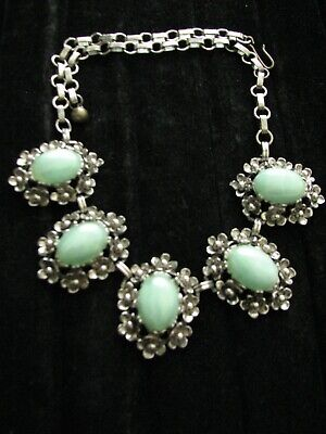 1950s Jewelry Styles and History Vintage Flower Necklace 1950's $19.99 AT vintagedancer.com