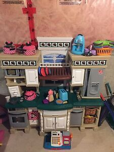 Deluxe toy kitchen with food and appliances