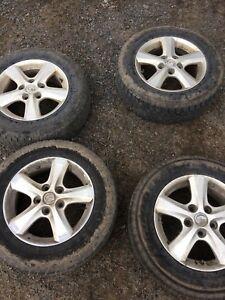 "4 Mazda alloy wheels 15"""