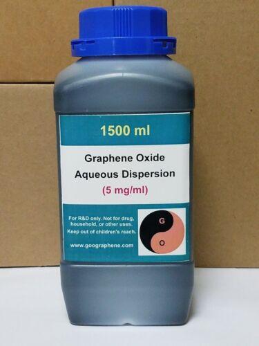 pH ~ 6-7, 1500ML × 5mg/ml, Single-Layer Graphene Oxide Aqueous Dispersion